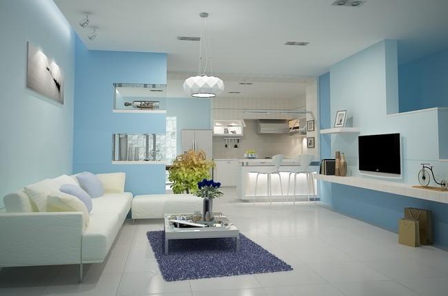 Màu sơn phòng khách đẹp nhất hiện nay